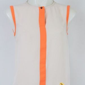Ted Baker Nude And Orange Tank Size 0